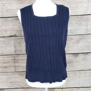 Preswick & Moore | Navy Blue Knit Sweater Vest L